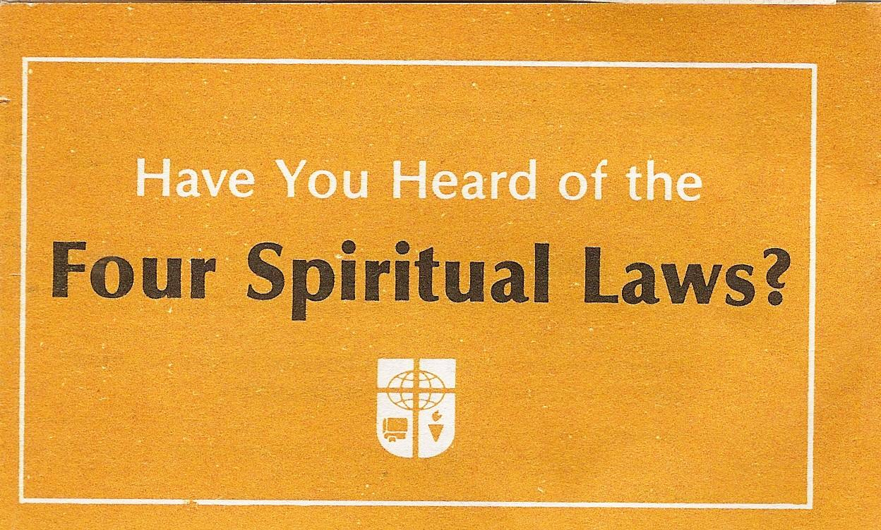 picture regarding Four Spiritual Laws Printable named 4-Non secular-Rules