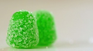 Two Green Gumdrops